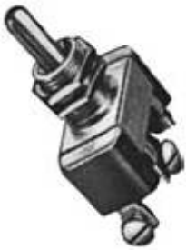 ON-OFF-ON TOGGLE SWITCH 15 AMP