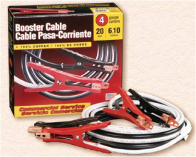 4GA 20FT BOOSTER CABLE