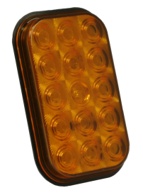 AMBER RECTANGULAR LED