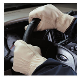 GLOVE - LEATHER DRIVING - LARG
