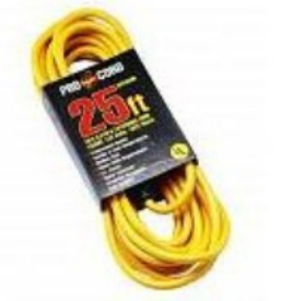 25' EXTENSION CORD 16/3 SINGLE