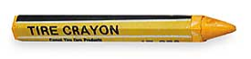 YELLOW TIRE CRAYONS
