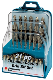 21PC TITANIUM COATED DRILL BIT